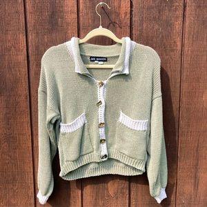 Vintage Sage Green Cardigan | Womens Small